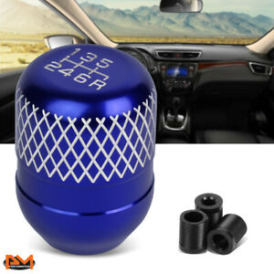 Universal JDM Type-R Style 42mm Racing Manual 6-Speed Aluminum Shift Knob Blue