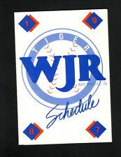 Detroit Tigers--1987 Pocket Schedule--WJR/Budweiser