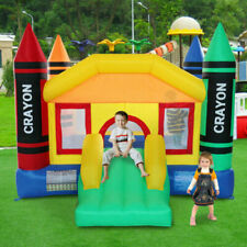 Inflatable Mighty Moonwalk Bouncer House - Bounce Castle Jumper Without Blower
