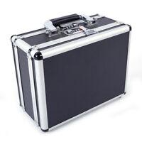 US Aluminum Framed Gun Pistol Locking Box Hard Storage Carry Case 30*15*23cm