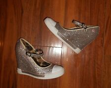 ROCK & CANDY GOLD LUXE WOMENS NEW GOLD WEDGE MARY JANE SHOES: UK SIZE 3.5 (36.5)
