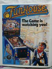 Funhouse Williams Pinball Flyer Brochure