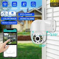 1080P WIFI IP Camera Wireless Outdoor CCTV HD PTZ Smart Home Security IR Cam