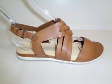 Ecco Size 5 to 5.5 Eur 36 TOUCH BRAIDED Tan Leather Sandals New Womens Shoes