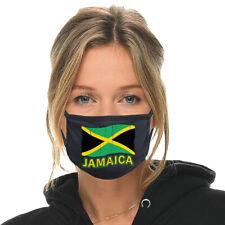 Jamaican Flag Face Mask Fabric Cloth Cover Jamaica Reggae Rasta Weed One Love