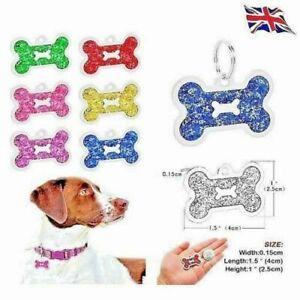 Bone Personalised IMPACT ENGRAVING Dog ID / Cat ID Name Tag Puppy Pet ID  UK