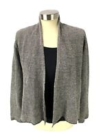 EILEEN FISHER Open Cardigan Sweater Womens Size S Petite Gray Relaxed