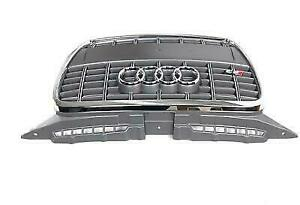 Audi S3 8P 2004-2008 Platinium Grey Front Grille With S3 Logo Genuine New