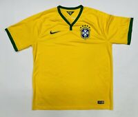 Authentic 2014 BRASIL CBF BRAZIL NATIONAL TEAM NIKE SOCCER Jersey Men's XL