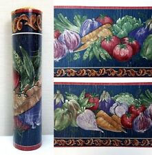 "Vintage Wallpaper Border Vegetables Kitchen 26103 Kingfisher 8.5"" x 5.5"" yds"