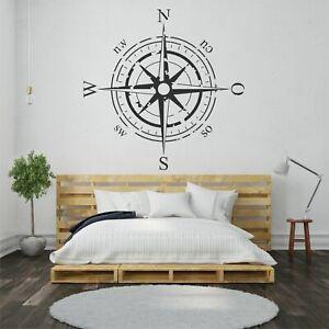 Wandtattoo Wandsticker Wandaufkleber Wohnzimmer Kompass Kinderzimmer WT091