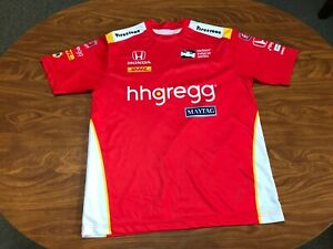MENS USED MARCO ANDRETTI RED INDY CAR RACING LEAGUE PIT CREW SHIRT SIZE SMALL