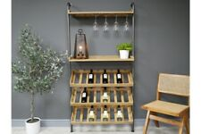 Wall Lean to Industrial Wine Unit - Bottle and Glass storage spaces