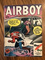 Airboy Comics Vol 4, #10 (Hillman, 1947) Fine+ Girl v Girl Catfight! Valkyrie
