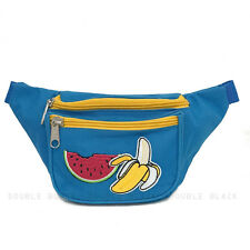 Watermelon Banana Fanny Pack Waist Belt Bag Running Sports Pouch Rave Party Gold