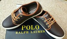 BNWB Very Smart Polo Ralph Lauren leather Child Ethan Brown Shoes size UK2.5