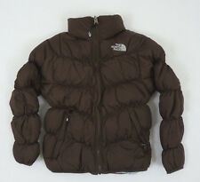 The North Face Girls Reversible Moondoggy Down Jacket Bacio Brown NWT $129  M