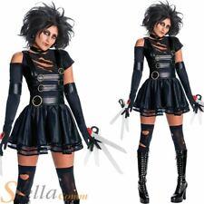 Ladies Miss Edward Scissorhands Costume Halloween Fancy Dress & Wig Film Outfit
