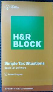2020 H&R Block Tax Software Basic - DOWNLOAD CODE DELIVERED VIA EBAY MESSAGE!