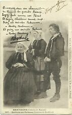 FRANCE, BRETAGNE, BRETONS EN PRIERES, YEAR 1902, POSTED TO LE HAVRE
