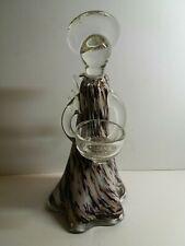 Glass Angel Tealight Holder - Amethyst (large)