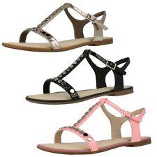 Sandali e scarpe t bar nero per il mare da donna