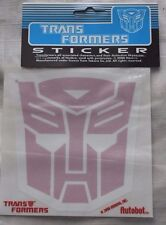 Vintage 2000 Licensed Hasbro Takara Transformers Autobot Sticker Red 5 inch