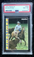 1992 Pinnacle Nolan Ryan #294 Sidelines Baseball Card Texas Rangers PSA 8 NM-MT