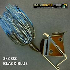Buzzbait RAPPER 3/8 oz BLACK BLUE buzz bait buzzbaits. KVD trailer hook