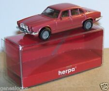 MICRO HERPA HO 1/86 1/87 JAGUAR XJ 6 12 ROSE FONCE METAL in BOX