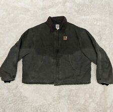 Carhartt 4xl Dark Green Work Coat Jacket Lined USA Made