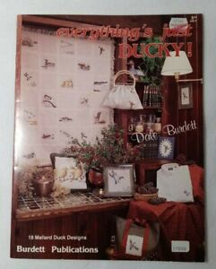 EVERTHING'S JUST DUCKY! Counted Cross Stitch Patterns by Burdett Publications