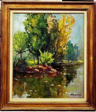 Tableau ancien Berjonneau Raoul Jehan Paysage post impressionniste vers 1930