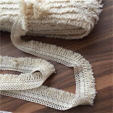 2yds Beige Cotton Tassel Trim Fringe Fabric Garment Tablecloth DIY 1.57'' Width