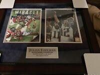 Julian Edelman Signed Framed Super Bowl 53 & 51 Patriots Photo Collage! JSA!