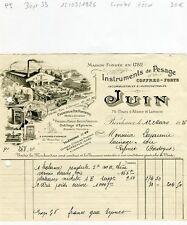 Dépt 33 - Bordeaux - Superbe Entête d'un Fabricant de Coffres Forts - 12/03/1926