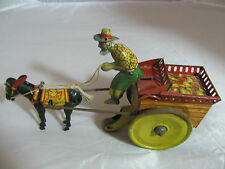 ANTIQUE JENNY THE BALKING MULE WID-UP TIN TOY by FERDINAND STRAUSS CO.