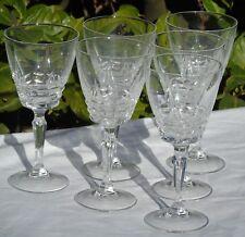 Service de 6 verres à eau en cristal d'Arques, modèle Chateaudun