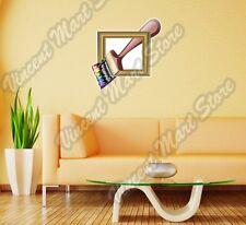 "Paintbrush Frame Artist Art Paint  Wall Sticker Room Interior Decor 25""X20"""