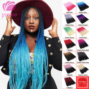 "24"" 30 Strands Ombre Senegalese Twist Braids Synthetic Crochet Hair Extensions"