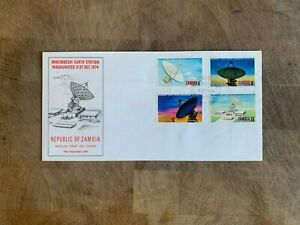 ZAMBIA 1974 FDC OR USED EARTH STATION SATELLITE DISH RADAR