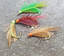 Trout Flies,4 Mixed Pseudo Diawlbach ,For Fly Fishing,trout Buzzers.Trout Nymph