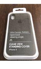 IPhone Apple x Custodia in Tessuto Morbido-Nero/Grigio scuro