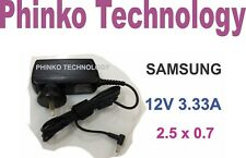 AC Adapter Charger Samsung Tablet Chromebook XE700T1C XE500T1C 12V 3.33A 40W