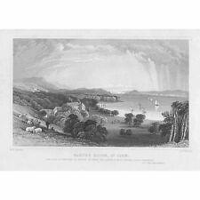 L'Irlanda Bantry House, CO Cork-antica stampa 1829