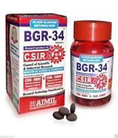 BGR-34//HERBAL MEDICINE//CONTROL BLOOD GLUCOSE METABOLISM//100 TABS