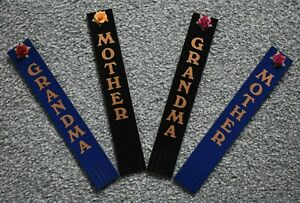 Felt Backed Leather Bookmark for Mother or Grandma with a Flower Embellishment.
