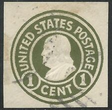 US Scott #U420a FVF Used Cut Square EFO Printing on Back