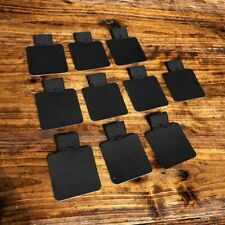 10PC Self-Adhesive BLACK Leather Pen Clip Pencil Elastic Loop For Notebooks Jour