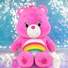 "Care Bears CHEER BEAR Pink Rainbow 2015 20"" Large Plush Stuffed Animal BG786"